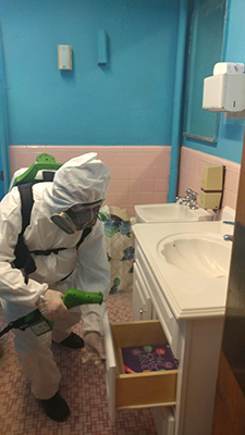 Electrostatic Disinfecting Bathroom